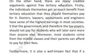 Should a college education be free for everyone persuasive essay ...