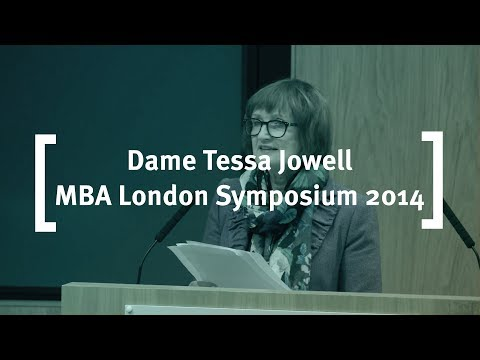 Dame Tessa Jowell of The Houses of Parliament: Cass MBA London Symposium 2014
