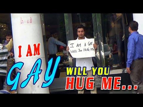 "Social Experiment: ""I Am A Gay - Will You Hug Me"" || Shocking Reactions || #Ghanta Hai"