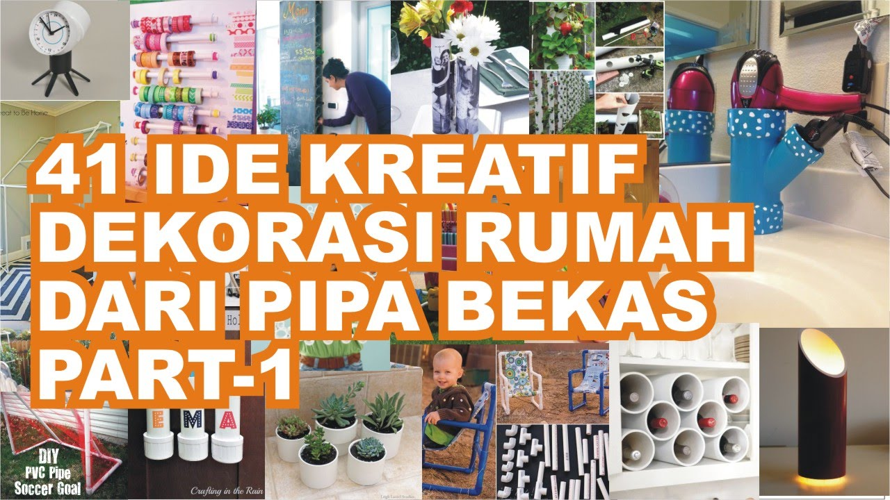 41 Ide Kreasi Pipa Bekas Untuk Dekorasi Rumah dan Kebun