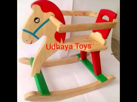 Wooden rocking horse in India