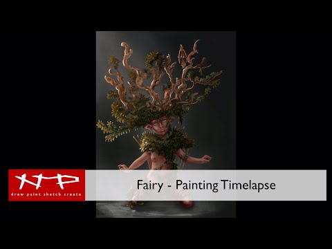 Procreate Tutorial - Sketching and Painting - Fairy thumbnail