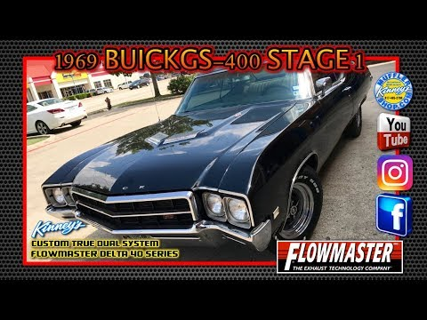 1969 Buick GS-400 stage 1 Flowmaster Delta flow 40 Custom Dual by Kinney's