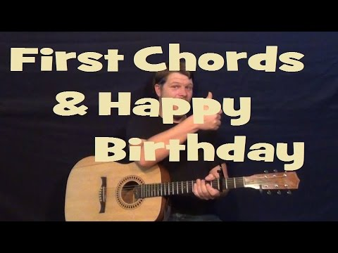 Guitar guitar chords g c d : Easy Major Chords - G C D - Happy Birthday - Easy Beginner Guitar ...