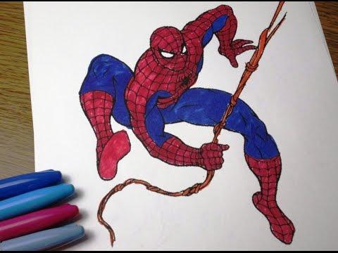 ЧЕЛОВЕК ПАУК Спайдермен Spiderman раскраска Бэтмен