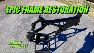 Epic dirt bike frame build from home. 2-stroke bike build