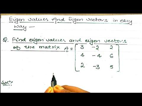 Download Eigen Values and Eigen Vectors | Eigen Values and Eigen Vectors Problems | linear Algebra