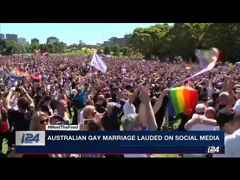 Aussies hit the streets and social media to celebrate the recent gay marriage 'yes,'