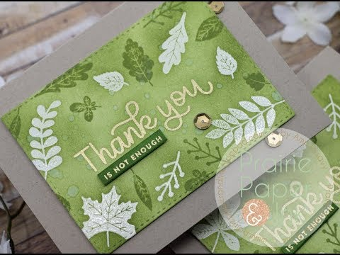 Emboss Resist Thank You Cards | SSS November 2018 Card Kit