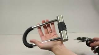 Обзор маленького велозамка-скобы Green Cycle GCL-SU2S U-lock