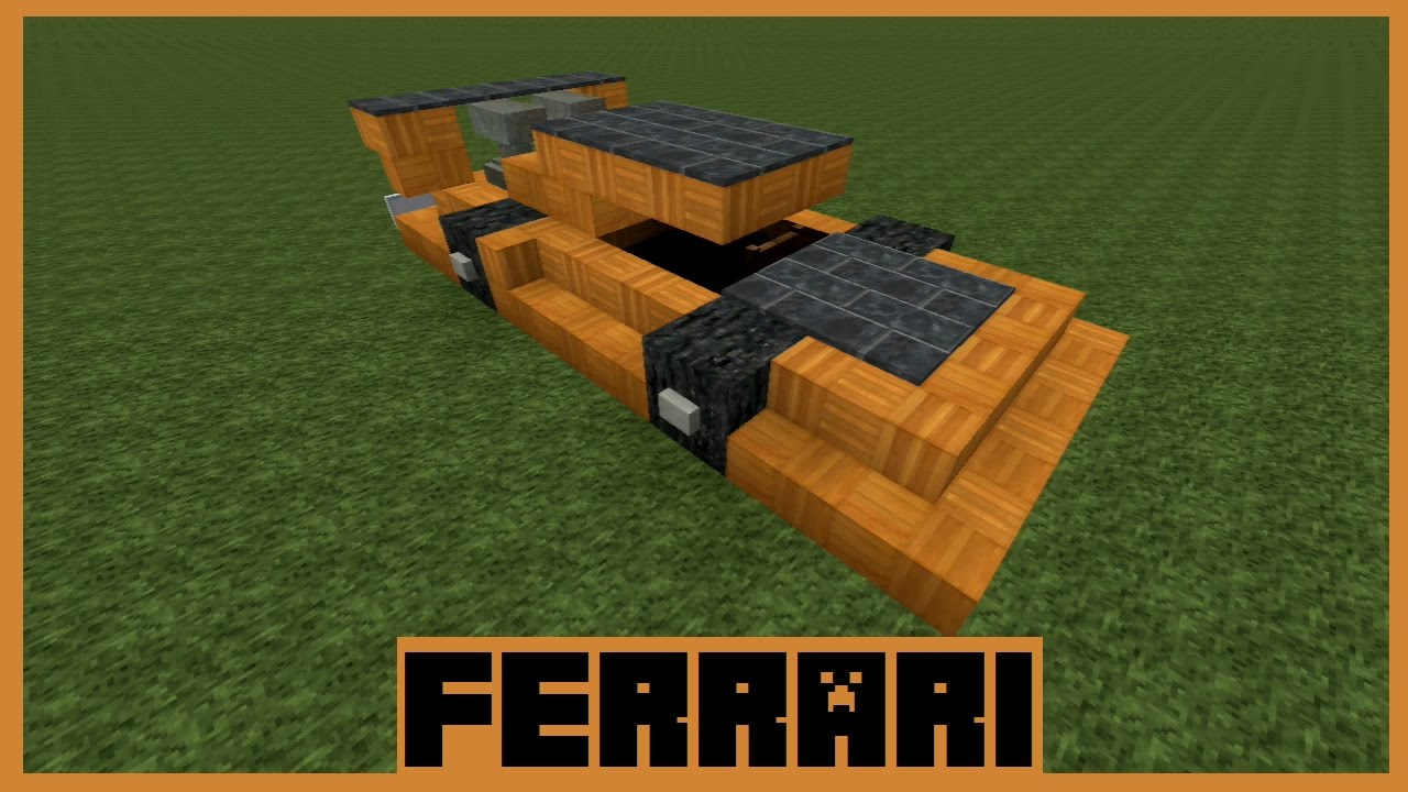 Minecraft Tutorial - Ferrari bauen ( Deutsch ) - YouTube