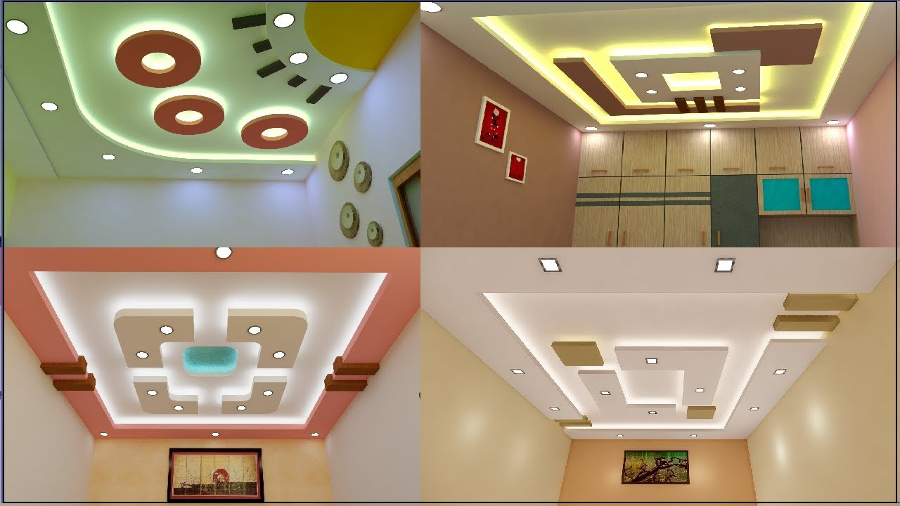 Latest 55 New Gypsum False Ceiling Designs 2019 Ceiling Design Pictures Living And Bedroom Youtube