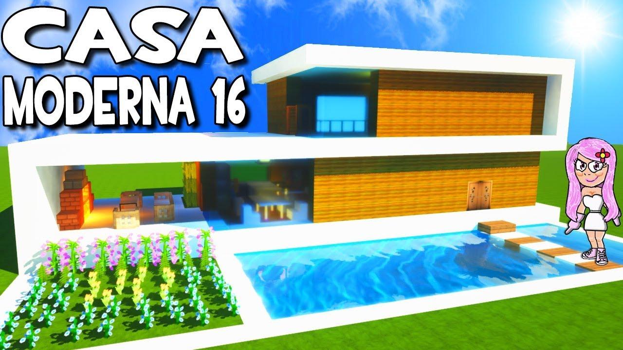 Como hacer una casa moderna 16 con piscina en minecraft for Casa moderna 4 mirote y blancana