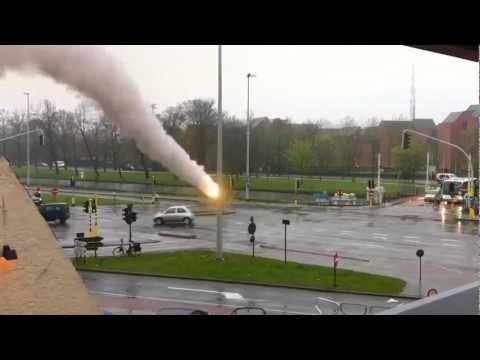 Bruges under missile attack or accident