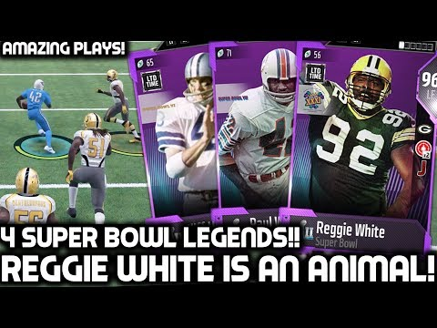 SUPER BOWL REGGIE WHITE IS UNSTOPPABLE! FRANCO HARRIS, PAUL WARFIELD & MORE! Madden 18 Ultimate Team