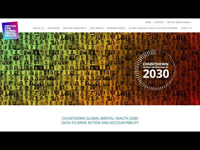 Saúde Mental Global 2030: dados para impulsionar ação e responsabilidade