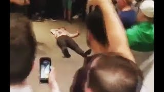 Фанаты Конора и Хабиба устроили драку после боя UFC 229 потасовка