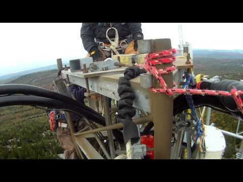 VERIZON 4G LTE Upgrade using a helicopter on Streaked Mountain.  Beta face removal  and mounting