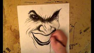 Arkham Asylum Joker Drawing