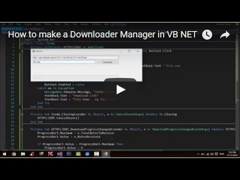 How to make a Downloader Manager in VB NET