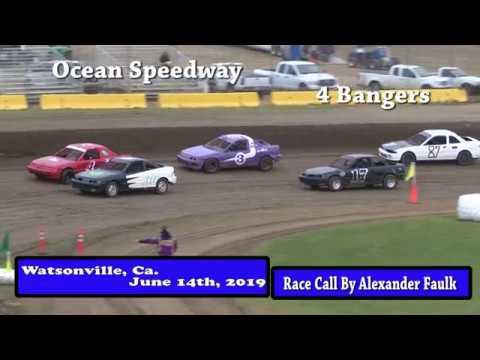 Ocean Speedway June 14th, 2019 4 Banger Main Highlights