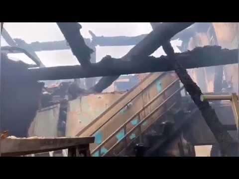 La vivienda que ardió en Friol, calcinada por completo