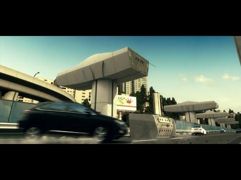 Tehran Sadr Multilevel Expressway_3D Animation_Segmental Pier Caps