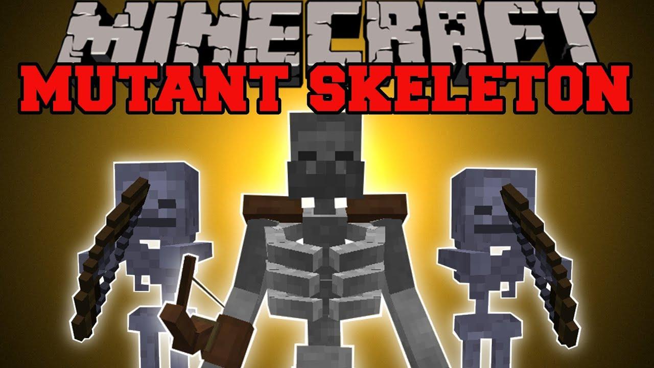 Minecraft Mutant Skeleton Mod Massive Skeleton With Epic