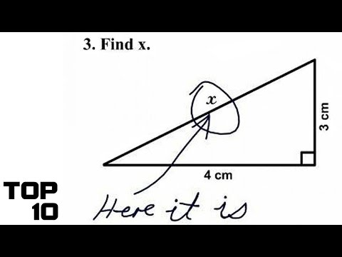 Top 10 Funniest Test Answers