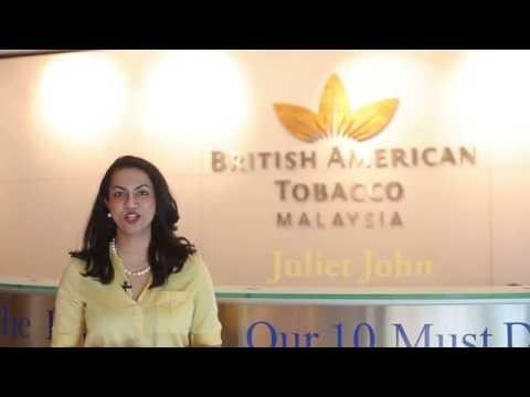 Juliet John at British American Tobacco Malaysia.