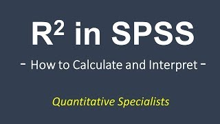 how to calculate and interpret r square in spss