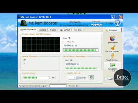 Optimize Memory Free Up RAM  Boost Computer Memory with Freeware by Britec