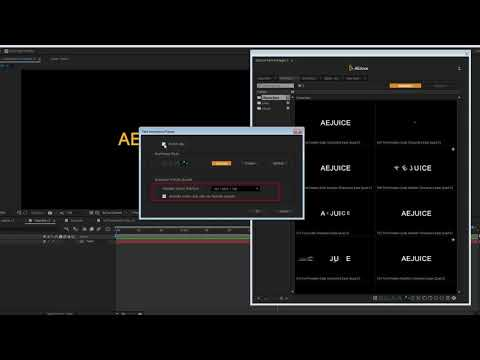 3D Animation Presets - AEJuice