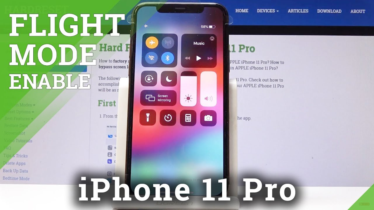 How To Enable Flight Mode In Iphone 11 Pro Ios Airplane Mode Youtube