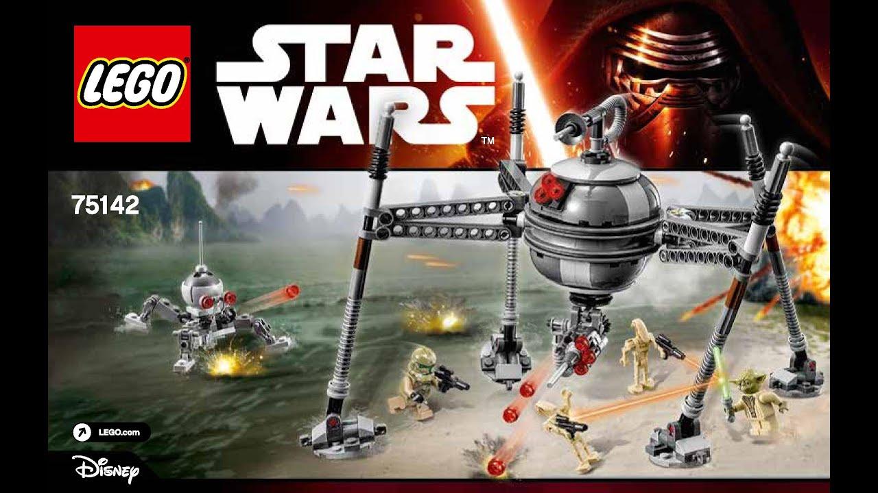 Lego Star Wars Homing Spider Droid 75142 Diy Instructions Brick