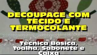 Video aula de decoupagem em tecido e dicas de termocolantes
