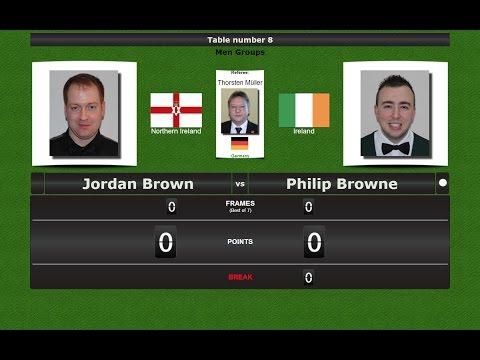 Snooker Men Groups : Jordan Brown vs Philip Browne