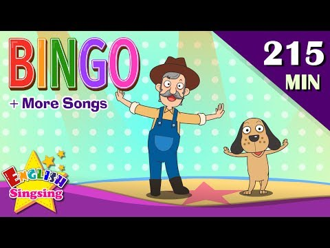 BINGO + More Animal Songs | Top 50 Nursery Rhymes with lyrics | English kids video