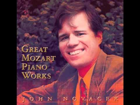 MOZART Sonata, K.311 (Second Movement), John Novacek, piano