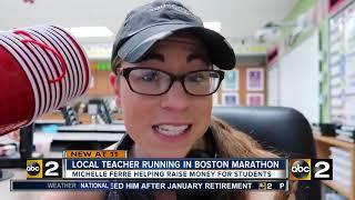 Local teacher running in Boston Marathon