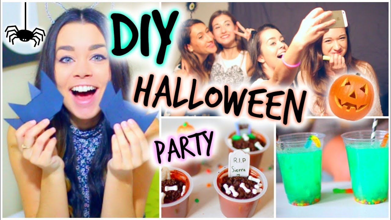halloween party diy treats decor activities youtube