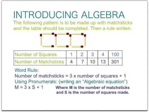 algebra introduction patterns and introducing pronumerals youtube. Black Bedroom Furniture Sets. Home Design Ideas