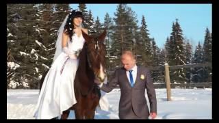 Свадьба зимой, на улице минус 30