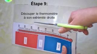 Tutoriel pour fabriquer le thermomètre de l'association Désir d'AILES (Autisme & TSA)