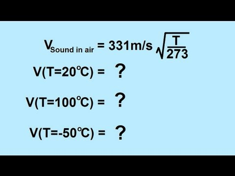 Physics - Mechanics: Sound and Sound Waves (3 of 47) Velocity of Sound in Air