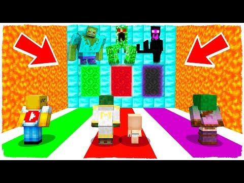 ¡NO ELIJAS LA DIMENSIÓN EQUIVOCADA! Zombie, Creeper Y Enderman MUTANTES En Minecraft