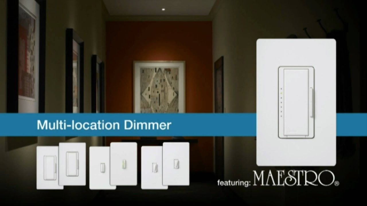 Lutron Maestro Multi Location Switch Westsidewholesalecom Youtube 3 Way Wiring Diagram For Led