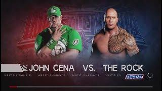 WWE 2K18 (PS4) John Cena vs The Rock Once in a lifetime Wrestlmania XXVIII