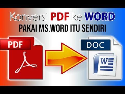 Cara Konversi file PDF ke Word Menggunakan Microsoft Word