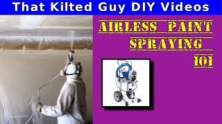 Paint your ceiling FAST with an Airless Paint Sprayer- I'll teach you how